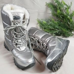 Bass Sterling Silver Snow Boots Size 6M